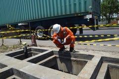 PGN expande a infraestrutura natural do gasoduto em Semarang Fotografia de Stock