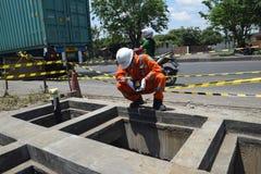 PGN expande a infraestrutura natural do gasoduto em Semarang Imagens de Stock Royalty Free
