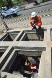 PGN expande a infraestrutura natural do gasoduto em Semarang Fotos de Stock