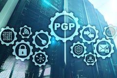PGP Vrij Goede Privacy Technologieencryptie en Veiligheidsconcept royalty-vrije stock foto's