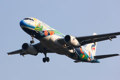 PGV Airbus A320-200 von Bangkokairway-Fluglinie stockfotografie