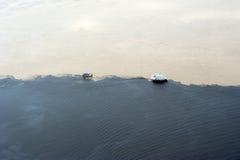 Phénomène d'Amazone - contact des eaux images libres de droits