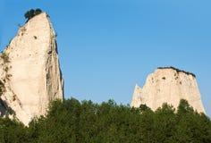 Phénomène en pierre dans Melnik, Bulgarie image libre de droits