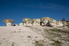 Phénomène en pierre naturel de zéolite Les champignons de pierre Photos stock