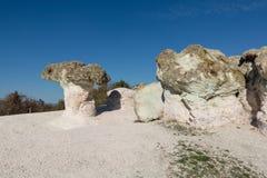 Phénomène en pierre naturel de zéolite Les champignons de pierre Image stock