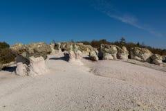 Phénomène en pierre naturel de zéolite Les champignons de pierre Images libres de droits