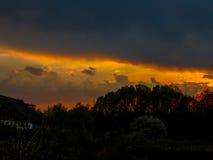 phénomène naturel du coucher du soleil dans le jardin photo libre de droits
