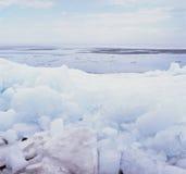 Phénomènes transportés par radeau de glace  Images stock