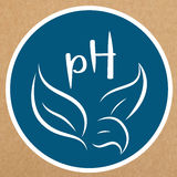 Ph balance vector badge, icon, sticker layout Royalty Free Stock Image