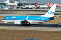PH-BGG KLM Royal Dutch Airlines , Boeing 737-700 Royalty Free Stock Images