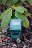 PH-meter in the garden. Royalty Free Stock Photography