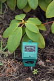 PH-meter in the garden. Royalty Free Stock Images