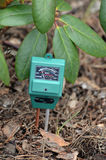 PH-meter in the garden. Royalty Free Stock Image