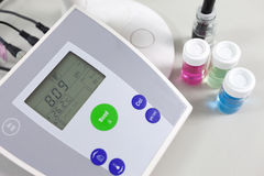 PH meter to measure the acidity-alkalinity Royalty Free Stock Photo