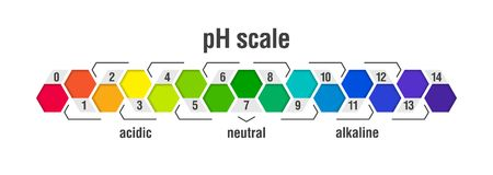 PH value scale chart Royalty Free Stock Images
