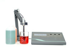 pH van het laboratorium meter royalty-vrije stock foto