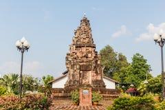 Pha在sakonnakhon省thaila的那个narai城weang寺庙 库存图片