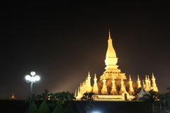 Pha那个Luang寺庙在万象 免版税库存图片