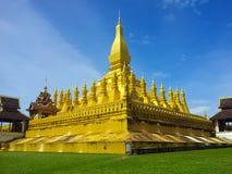 Pha那Luang在万象老挝 库存图片