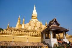 Pha那Luang stupa在万象老挝 库存图片