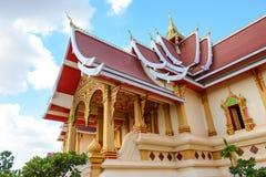Pha那Luang stupa在万象 库存图片