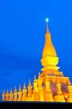 Pha που Luang, το χρυσό stupa στα περίχωρα Vientiane, Στοκ Εικόνα