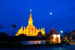 Pha που Luang, το χρυσό stupa στα περίχωρα Vientiane, Στοκ Φωτογραφία