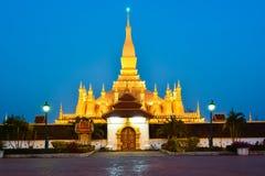 Pha которое Luang, большое Stupa в Vientine, Лаосе Стоковое Фото
