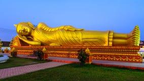 Pha которое Luang, большое Stupa в Vientine, Лаосе Стоковое Изображение RF