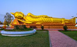 Pha которое Luang, большое Stupa в Vientine, Лаосе Стоковая Фотография RF