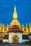 Pha которое Luang (висок) или большое Stupa в Вьентьян, символе Лаоса. Стоковое Изображение RF