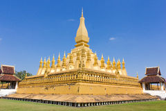 Pha которое Luang, Лаос Стоковые Изображения RF