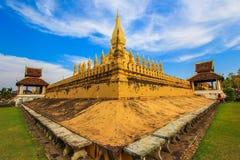 Pha то Luang (то Luang Stupa), Вьентьян, Лаос Стоковые Изображения