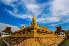 Pha то Luang (то Luang Stupa), Вьентьян, Лаос Стоковое Фото