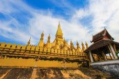 Pha то Luang (то Luang Stupa), Вьентьян, Лаос Стоковые Фотографии RF