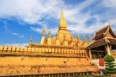 Pha то Luang (то Luang Stupa), Вьентьян, Лаос Стоковая Фотография RF
