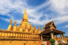 Pha то Luang (то Luang Stupa), Вьентьян, Лаос Стоковая Фотография