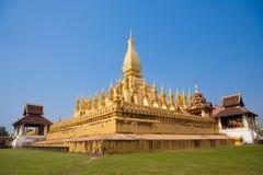 Pha то stupa Luang в Вьентьян Лаосе Стоковая Фотография