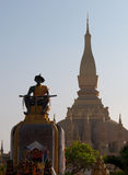 Pha ce Luang grand Stupa à Vientiane Laos Photos stock