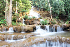 Pha Charoen Waterfall. The Pha Charoen Waterfall (pronounced PAH chah-RDOHN was a lovely 97-level stair-stepping waterfall that we really enjoyed photographing Royalty Free Stock Images