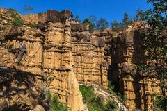 Pha Chau canyon on blue sky background. Stock Photography