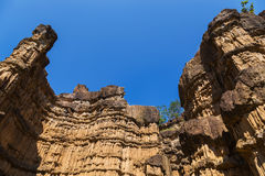 Pha Chau canyon on blue sky background. Royalty Free Stock Photos