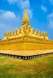 Pha che Luang, Laos. fotografie stock