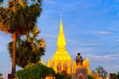 Pha che Luang, lo stupa dorato sulle periferie di Vientiane, Fotografia Stock Libera da Diritti