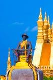 Pha che Luang, lo stupa dorato sulle periferie di Vientiane, Immagini Stock Libere da Diritti