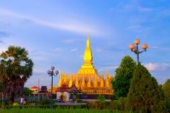 Pha che Luang, lo stupa dorato sulle periferie di Vientiane, Fotografia Stock