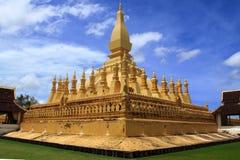 Pha che tempiale di Luang a Vientiane, Laos Fotografie Stock