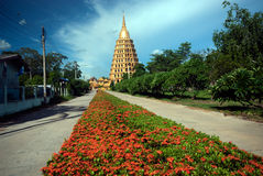 Pha That Chedi Sri Pho Thong is pagoda in Wat Ta It,Thailand. Royalty Free Stock Images