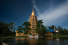Pha That Chedi Sri Pho Thong is pagoda in Wat Ta It,Thailand. Royalty Free Stock Photography