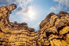Pha Cho, Pha Cho är höga jordkanjonklippor på Mae Wang National parkerar i Chiang Mai, Thailand förbluffa thailand Royaltyfria Bilder